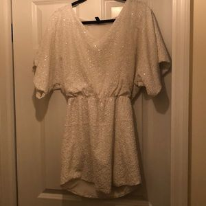 White sequin Aqua dress